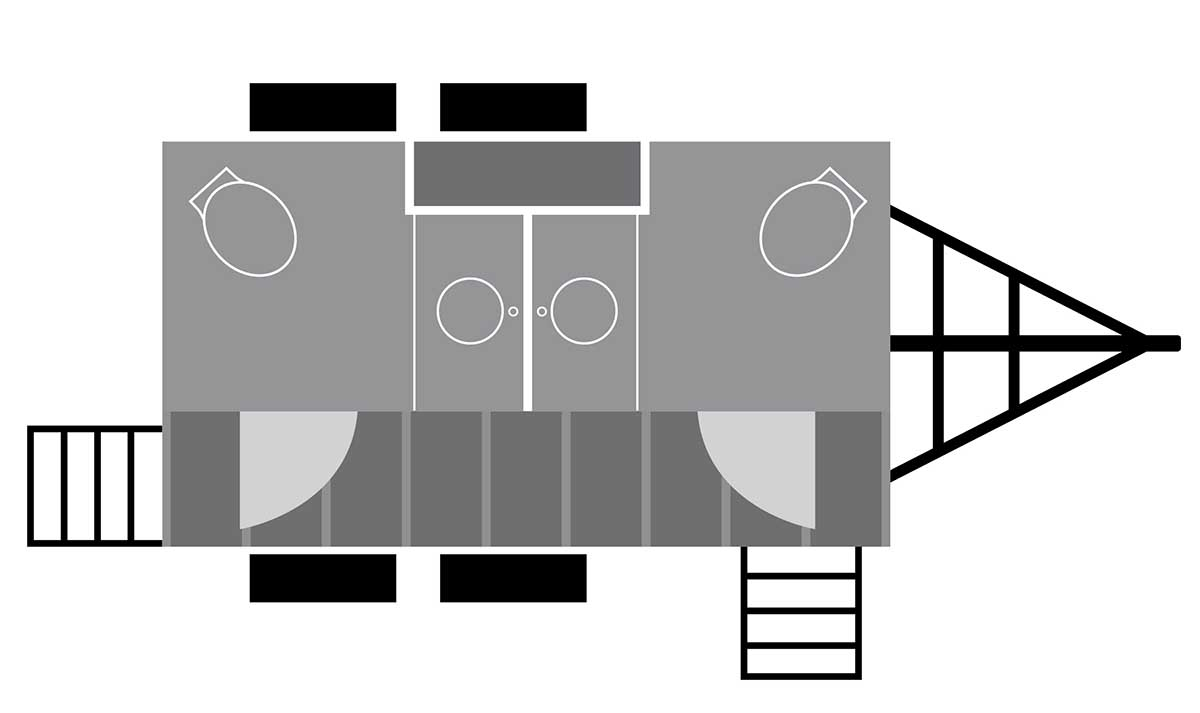 Destin bathroom trailer floor plan